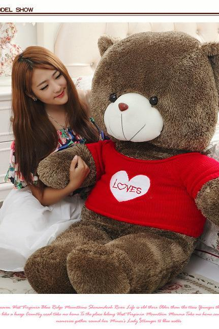 Teddy Bear 100% Pp Cotton Toy Giant 120cm BIG Cute White Plush Teddy Bear Huge Sweater bear plush toy bear doll doll doll Tactic